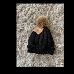 Hat with Pom on top